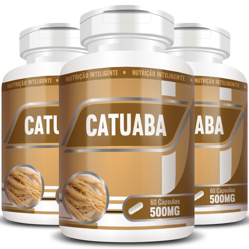 Catuaba 500mg - 100% Pura - 03 Potes (180 cáps.)