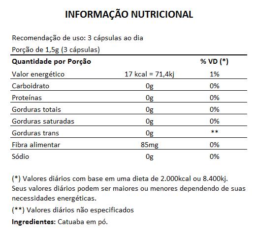 Catuaba 500mg - 100% Pura - 60 cápsulas  - Natural Show - Produtos Naturais, Suplementos e Cosméticos