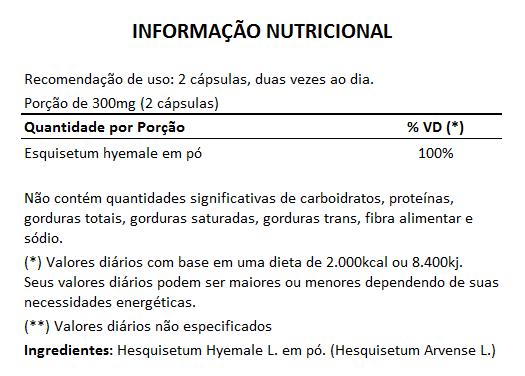 Cavalinha Original - 100% Vegano - 60 cápsulas de 300mg  - Natural Show - Produtos Naturais, Suplementos e Cosméticos