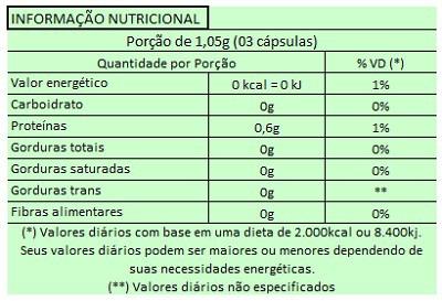 Clorella 500mg - 60 cápsulas  - Natural Show - Produtos Naturais, Suplementos e Cosméticos