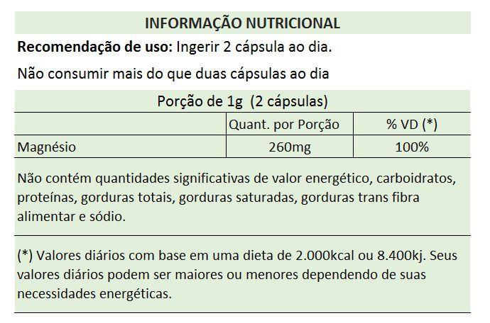 Cloreto de Magnésio PA - 500mg - 03 Potes  - Natural Show - Produtos Naturais, Suplementos e Cosméticos