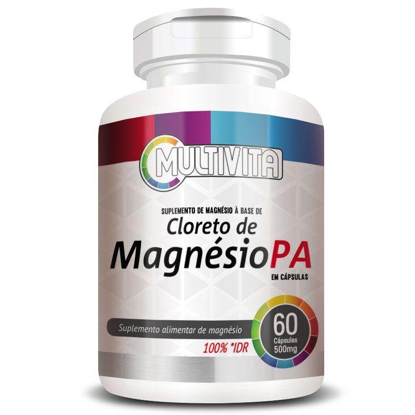 Cloreto de Magnésio PA - 60 cápsulas de 500mg  - Natural Show - Produtos Naturais, Suplementos e Cosméticos