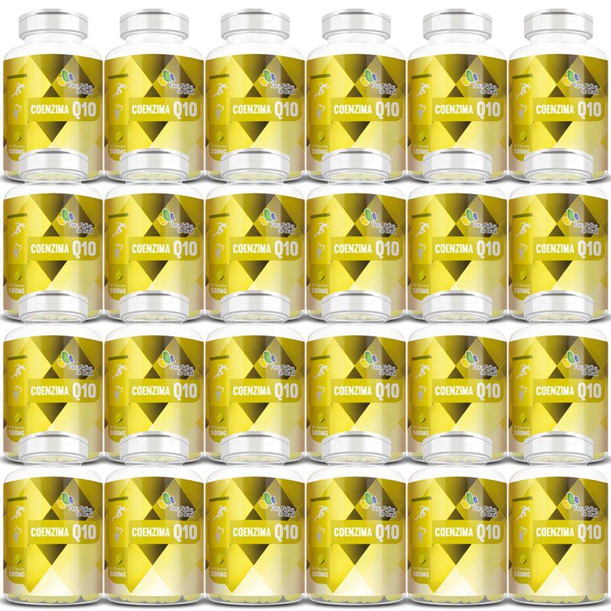 Coenzima Q10 - 500mg - 24 Potes (Atacado)  - Natural Show - Produtos Naturais, Suplementos e Cosméticos