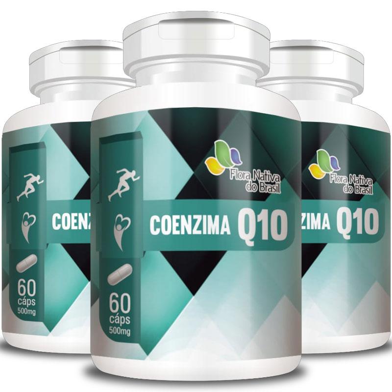 Coenzima Q10 - 500mg - 3 Potes  - Natural Show - Produtos Naturais, Suplementos e Cosméticos