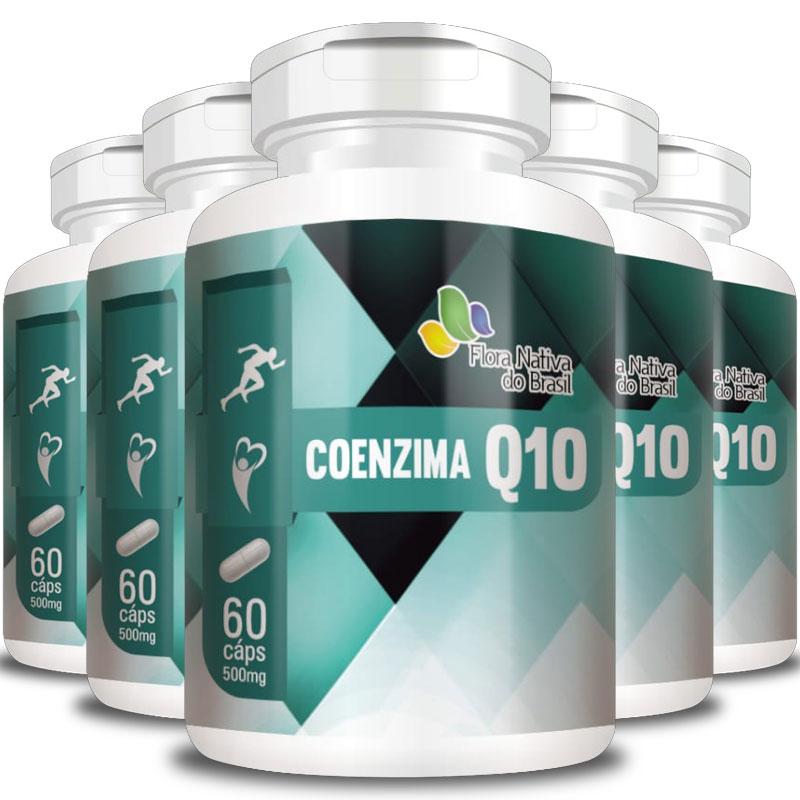 Coenzima Q10 - 500mg - 5 Potes  - Natural Show - Produtos Naturais, Suplementos e Cosméticos
