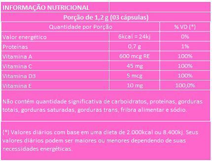 Colágeno Hidrolisado com Vitaminas - 60 cápsulas de 400mg  - Natural Show - Produtos Naturais, Suplementos e Cosméticos