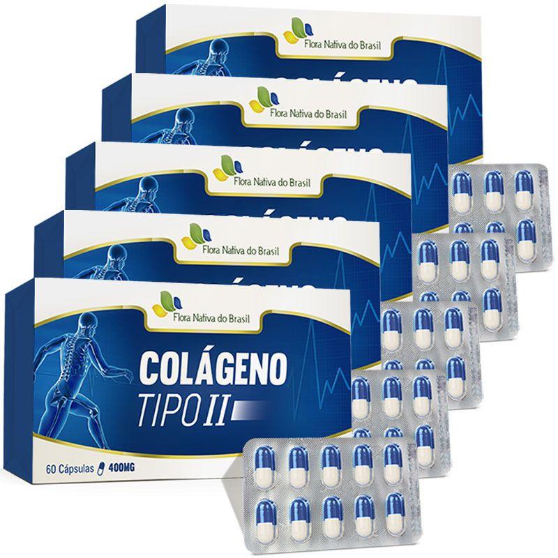Colágeno Tipo 2 - UC II - Original - 400mg - 5 Caixas (300 cáps.)  - Natural Show - Produtos Naturais, Suplementos e Cosméticos