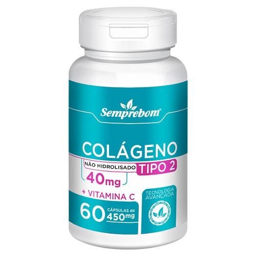 Colágeno Tipo 2 Não Hidrolisado + Vit. C 450mg - 1 Pote (60 cáps)
