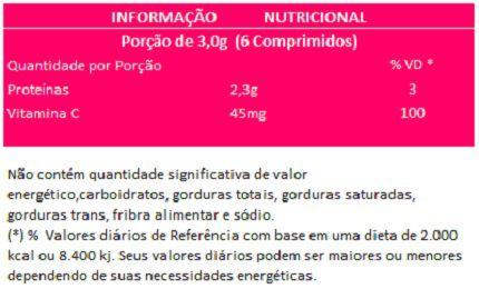 Colágeno Verisol + Vitamina C - 120 comprimidos de 500mg  - Natural Show - Produtos Naturais, Suplementos e Cosméticos