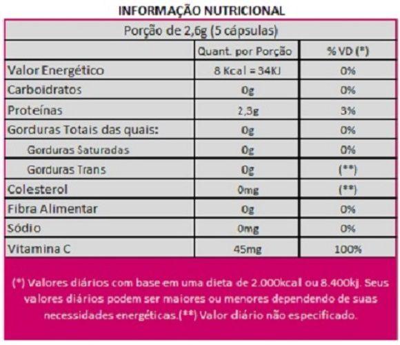 Collagen Care Colágeno Tipo 1 Bioativo Verisol + Vitamina C - 05 Potes  - Natural Show - Produtos Naturais, Suplementos e Cosméticos