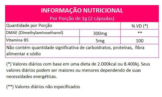 DMAE + Vitamina B5 - cápsulas de 500mg (03 Potes)  - Natural Show - Produtos Naturais, Suplementos e Cosméticos