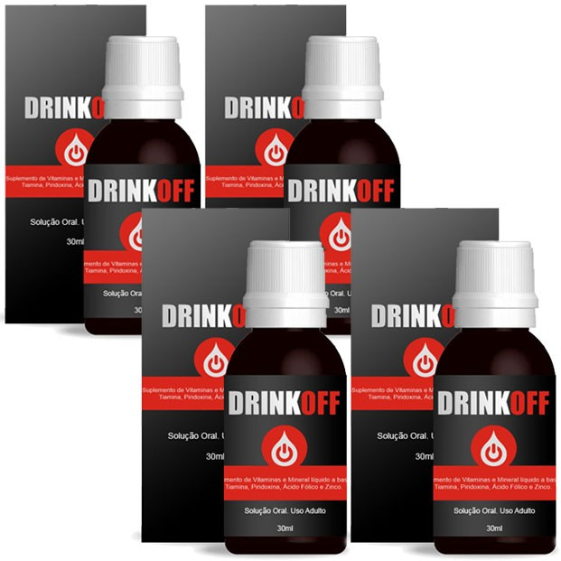 DrinkOff - Tratamento Parar Beber - Anti-álcool - 04 Frascos - 25% OFF  - Natural Show - Produtos Naturais, Suplementos e Cosméticos