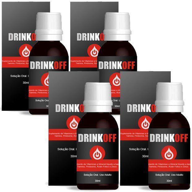 DrinkOff Original - 04 Frascos  - Natural Show - Produtos Naturais, Suplementos e Cosméticos