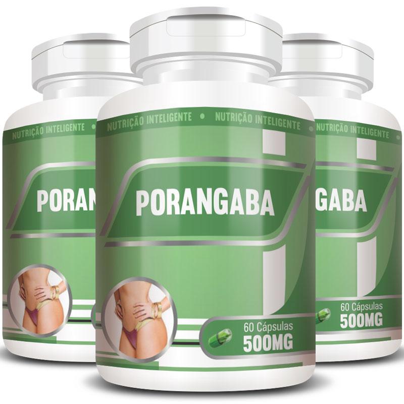 Emagrecedor Porangaba Original 500mg - 3 Potes (180 cáps.)