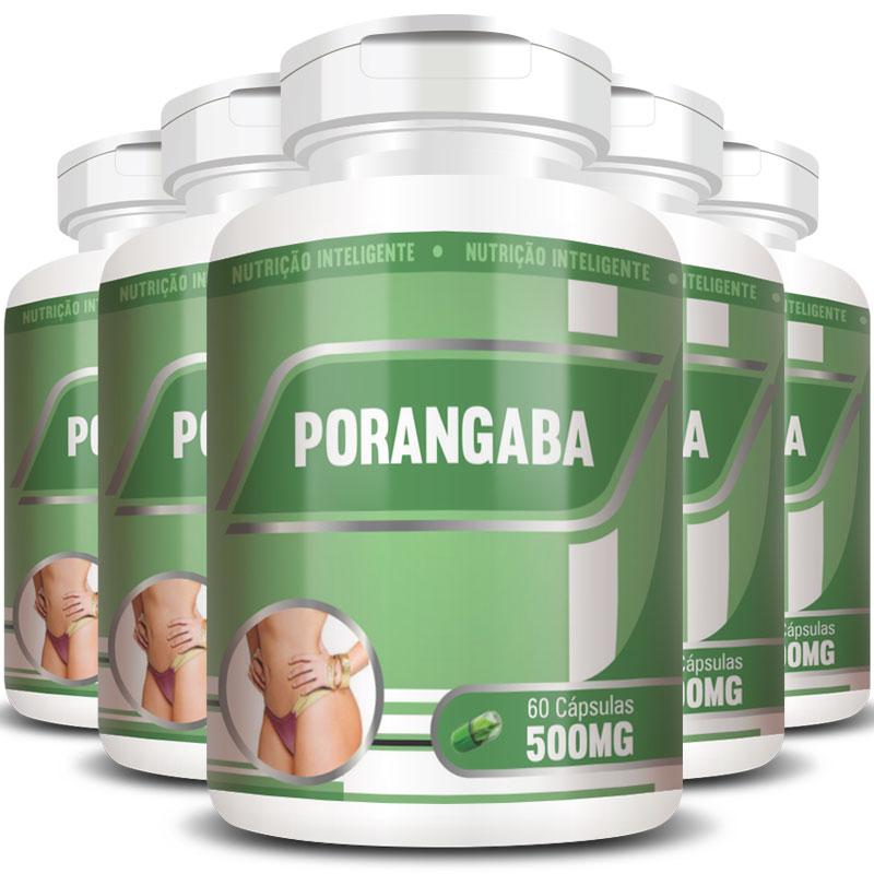 Emagrecedor Porangaba Original 500mg - 5 Potes (300 cáps)
