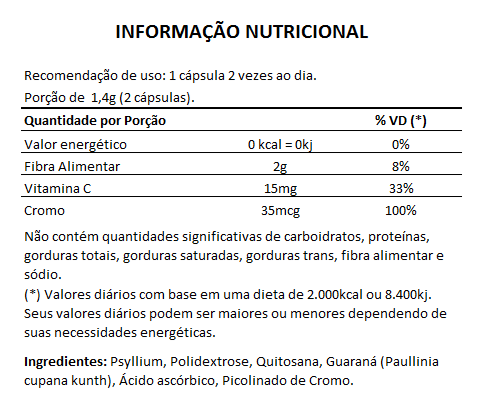 Emagrecedor Quitosana + Psyllium Original 700mg - 1 Pote  - Natural Show - Produtos Naturais, Suplementos e Cosméticos