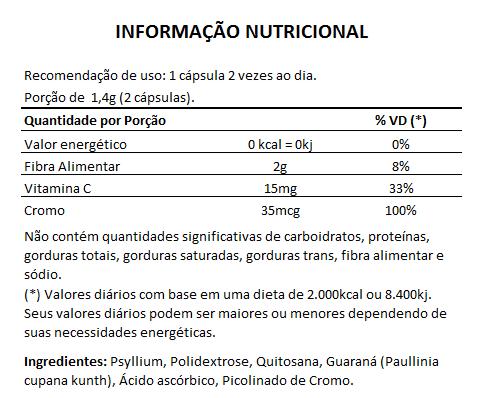 Emagrecedor Quitosana + Psyllium Original 700mg - 5 Potes  - Natural Show - Produtos Naturais, Suplementos e Cosméticos