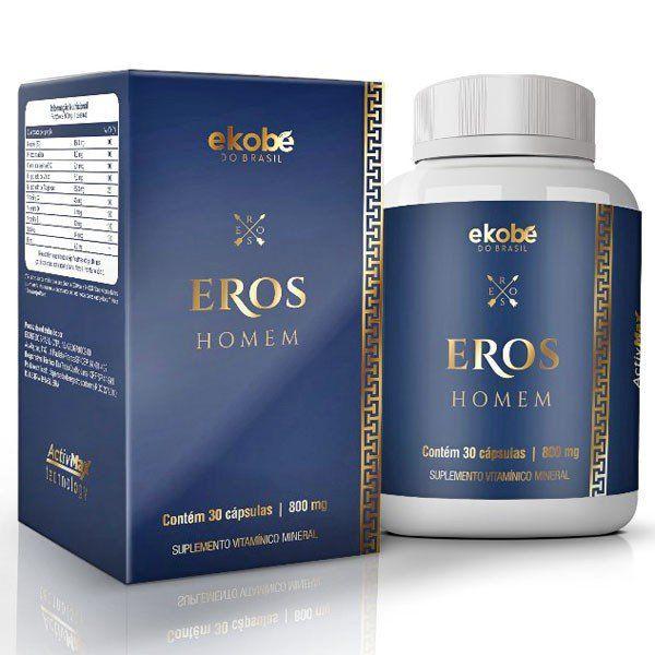 Eros Homem Original | Estimulante Sexual Masculino - 01 Pote  - Natural Show - Produtos Naturais, Suplementos e Cosméticos