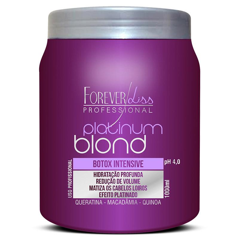 Forever Liss Platinum Blond Btox Intensive Matizador - 1kg  - Natural Show - Produtos Naturais, Suplementos e Cosméticos