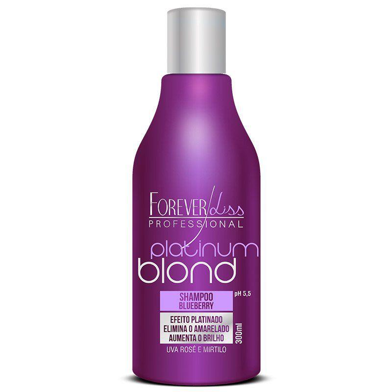 Forever Liss Platinum Blond Shampoo Matizador - 300ml  - Natural Show - Produtos Naturais, Suplementos e Cosméticos