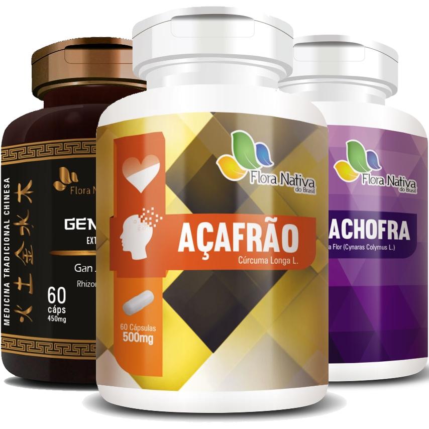 Fórmula Halipure - Tratamento Mau Hálito e Estômago (Açafrão / Cúrcuma + Gengibre + Alcachofra)