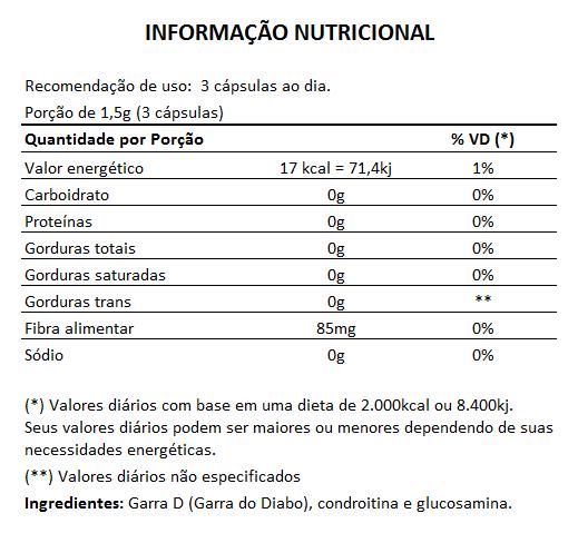 Garra D Composto 500mg - Garra do Diabo - 05 Potes com 60 cápsulas  - Natural Show - Produtos Naturais, Suplementos e Cosméticos