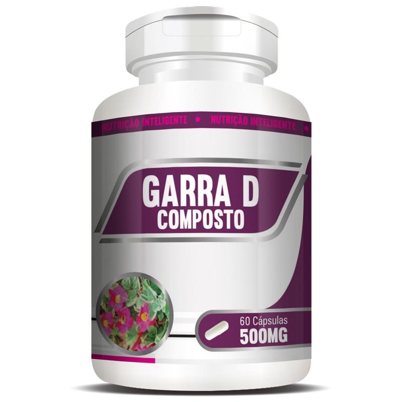 Garra D Composto + Condroitina + Glucosamina - Garra do Diabo - 1 Pote (60 cáps.)