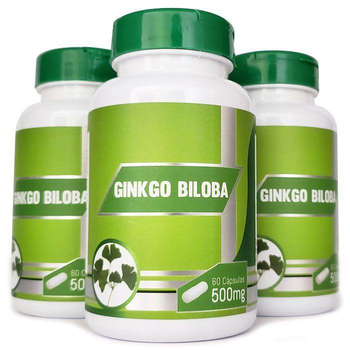 Ginkgo Biloba 500mg - Original - 3 Potes  - Natural Show - Produtos Naturais, Suplementos e Cosméticos