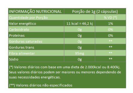Ginkgo Biloba 500mg - Original - 60 cápsulas  - Natural Show - Produtos Naturais, Suplementos e Cosméticos