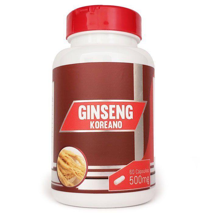 Ginseng Coreano - Original - 500mg - 60 cápsulas  - Natural Show - Produtos Naturais, Suplementos e Cosméticos