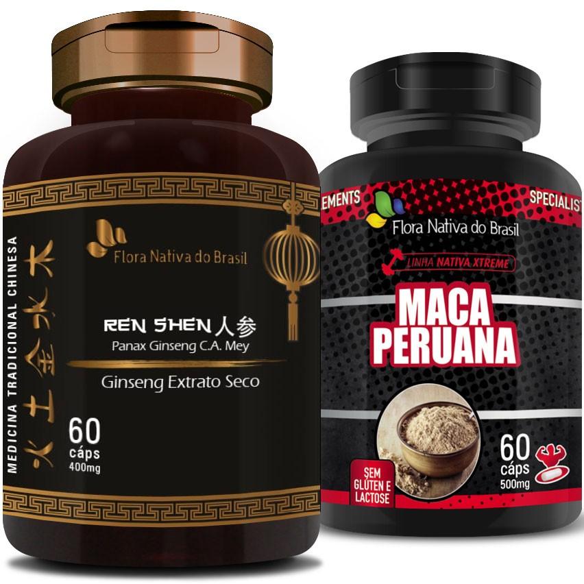 Kit - Ginseng Extrato Seco 400mg + Maca Peruana 500mg