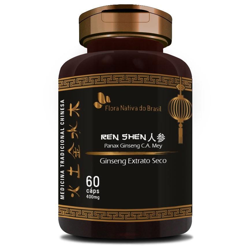 Ginseng Extrato Seco (O Legítimo) - 60 cápsulas de 400mg