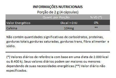 Guaraná 100% Puro - 60 cápsulas de 500mg  - Natural Show - Produtos Naturais, Suplementos e Cosméticos