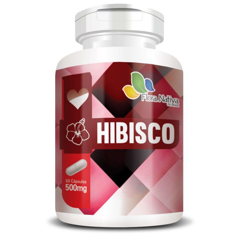 Hibisco - 60 cápsulas de 500mg - 100% Puro  - Natural Show - Produtos Naturais, Suplementos e Cosméticos