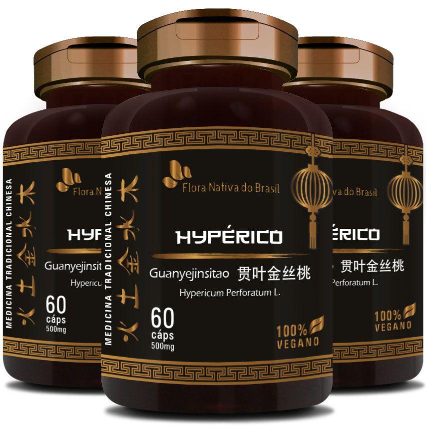 Hyperico (Hiperico) 300mg - 03 Potes (180 cáps.)