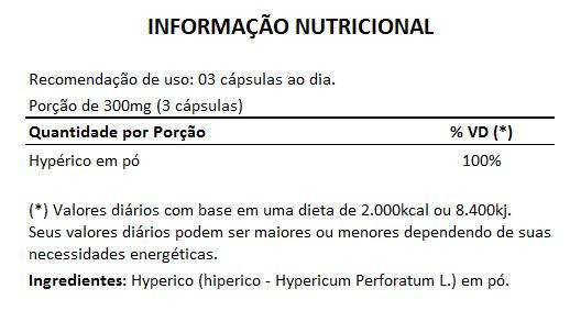 Hyperico (Hiperico) 300mg - 05 Potes  - Natural Show - Produtos Naturais, Suplementos e Cosméticos