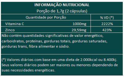 ImuniZC - Original - 60 Cáps. de 850mg (Aumentar a Imunidade)  - Natural Show - Produtos Naturais, Suplementos e Cosméticos
