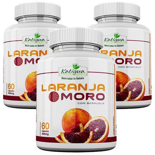 Laranja Moro (Morosil) com Berinjela - Emagrecedor |Original - 500mg - 03 Potes  - Natural Show - Produtos Naturais, Suplementos e Cosméticos