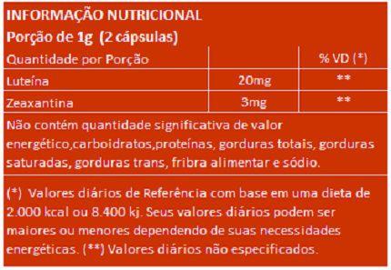 Luteína e Zeaxantina - 500mg - 03 Potes (180 cápsulas)  - Natural Show - Produtos Naturais, Suplementos e Cosméticos