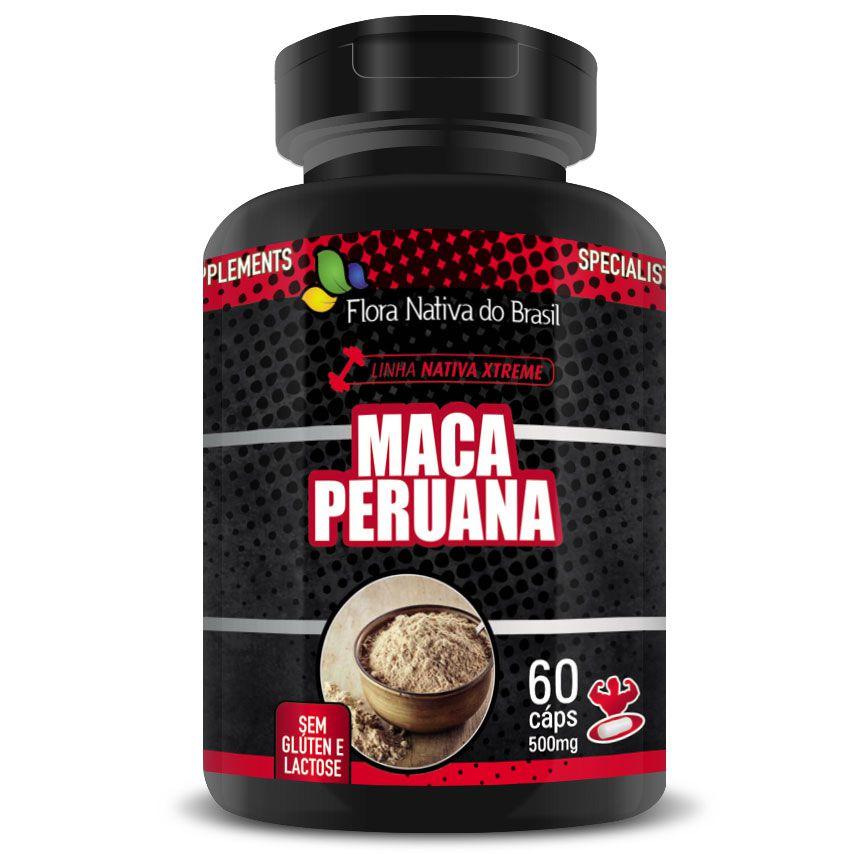 Maca Peruana 60 cápsulas de 500mg   - Natural Show - Produtos Naturais, Suplementos e Cosméticos