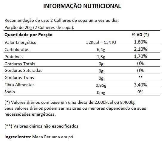 Maca Peruana em Pó, 100% Pura - 300g - Xtreme  - Natural Show - Produtos Naturais, Suplementos e Cosméticos