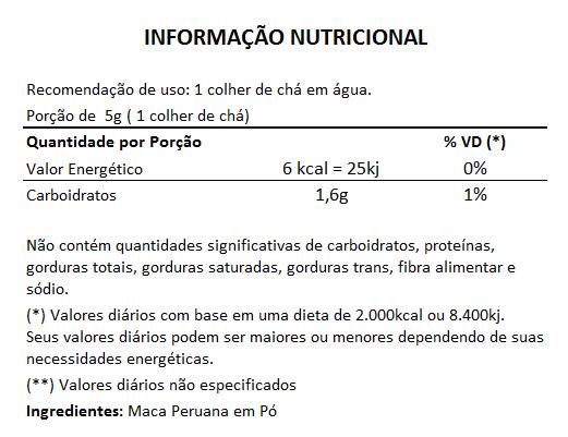 Maca Peruana em Pó - Powder - 150g  - Natural Show - Produtos Naturais, Suplementos e Cosméticos