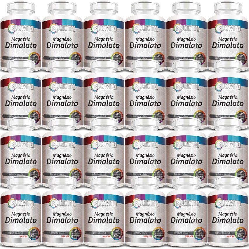 Magnésio Dimalato 500mg - 24 Potes (Atacado)  - Natural Show - Produtos Naturais, Suplementos e Cosméticos