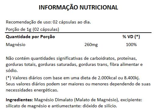 Magnésio Dimalato 500mg - 5 Potes  - Natural Show - Produtos Naturais, Suplementos e Cosméticos