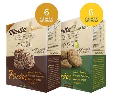 Marita Cookies Premium - Original - Misto: Cacau | Pêra - (12 Caixas)   - Natural Show - Produtos Naturais, Suplementos e Cosméticos
