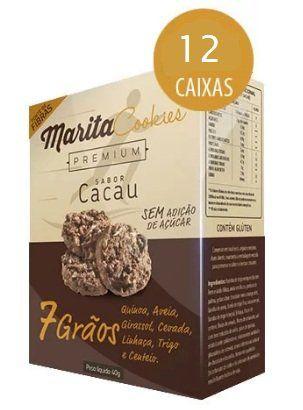 Marita Cookies Premium - Original - Sabor: Cacau   Chocolate -  (12 Caixas)  - Natural Show - Produtos Naturais, Suplementos e Cosméticos