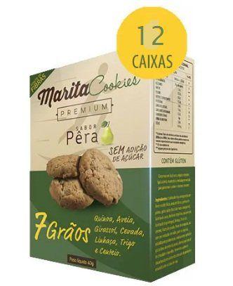 Marita Cookies Premium - Original - Sabor: Pêra - (12 Caixas)   - Natural Show - Produtos Naturais, Suplementos e Cosméticos