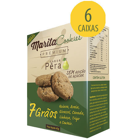 Marita Cookies Premium - Original - Sabor: Pêra - (06 Caixas)  - Natural Show - Produtos Naturais, Suplementos e Cosméticos