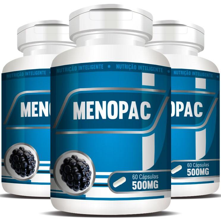 Menopac | Amora e Aquileia - 03 Potes com 60 cápsulas  - Natural Show - Produtos Naturais, Suplementos e Cosméticos