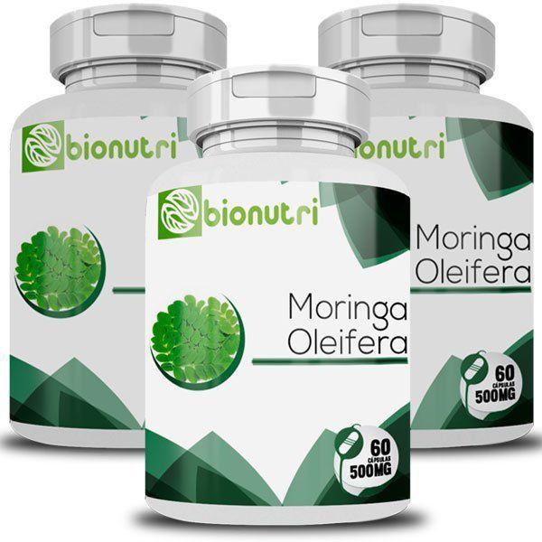 Moringa Oleifera - Original - 500mg - 3 Potes  - Natural Show - Produtos Naturais, Suplementos e Cosméticos